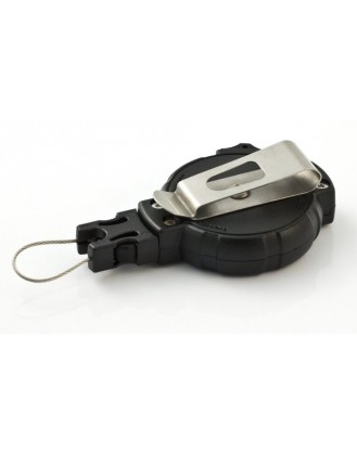 T-REIGN, uit zichzelf oprolbare riem clip met materiaal haak / Retractable Gear Tether with Belt Clip